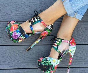flowers, fashion, and heels image