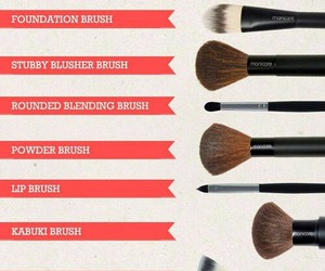 brush, guide, and makeup image