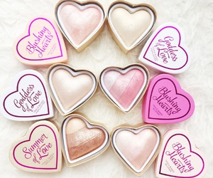 blush, makeup, and heart image
