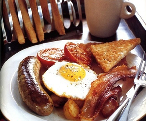 breakfast, food, and sausage image