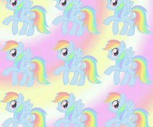 wallpaper, my little pony, and rainbow dash image