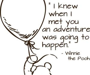 quotes, winnie the pooh, and adventure image