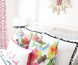 decor, bed, and bright image
