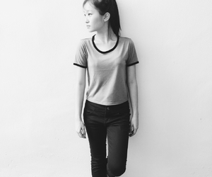 black and white, ootd, and my uploads image