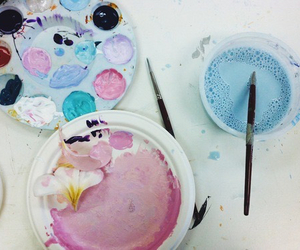 art, paint, and pastel image