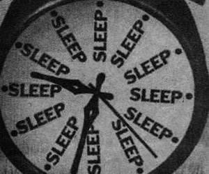 black, clock, and sleep image