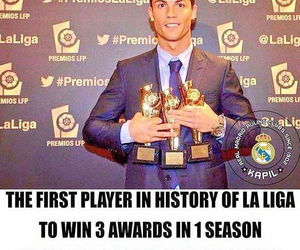 awards, cristiano ronaldo, and football image