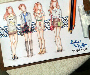 teen wolf, fashion, and draw image