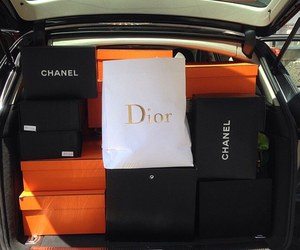 dior, chanel, and shopping image
