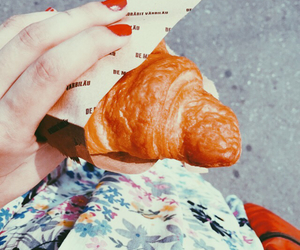 croissant, flowers, and french image
