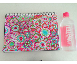 pink, water, and art image