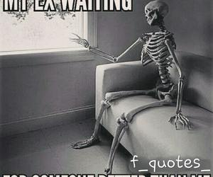 ex, funny, and waiting image
