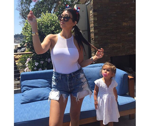kim kardashian, scott disick, and kourtney kardashian image
