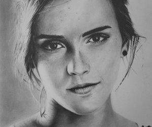 drawing, emma watson, and girl image