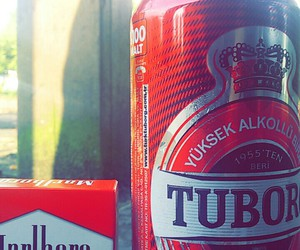 alcohol, beer, and cigarette image