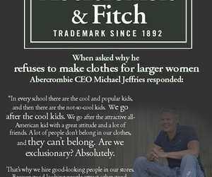 abercrombie and fitch, boycott, and hollister image