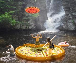 fun, friends, and pizza image