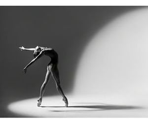 ballerina, black and white photography, and girl image