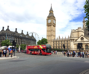 Big Ben, bus, and cars image