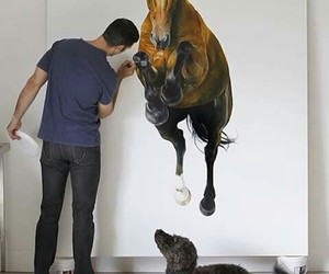 drawing and horse image