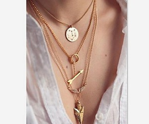girl, style, and necklace image