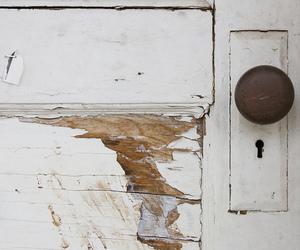 door, knob, and old image