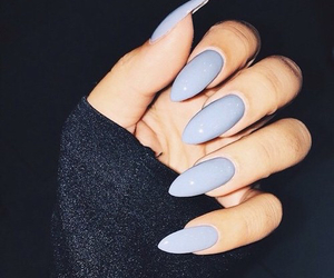 blue, n, and nails image