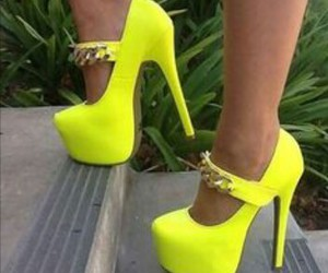 neon, shoes, and yellow image