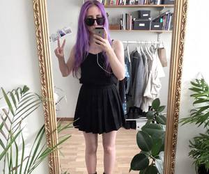 fashion, hair, and pale image
