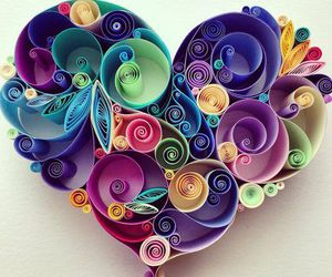 heart, art, and Paper image
