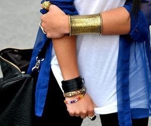 fashion, bracelet, and blue image