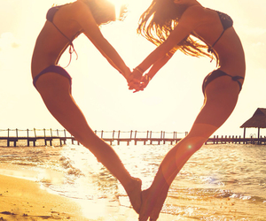 heart, summer, and beach image