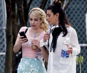 emma roberts, lea michele, and scream queens image