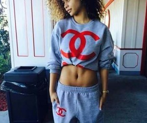 chanel, curly hair, and grey image