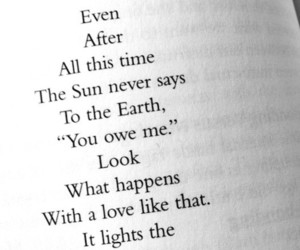 love, quotes, and sun image