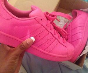 adidas, pink, and superstar image