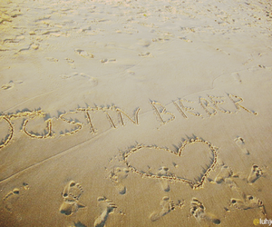 beach, heart, and justin image