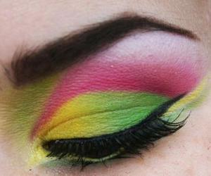 eye, eye shadow, and eyes image