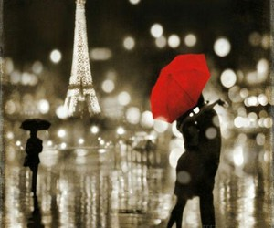 love, paris, and kiss image