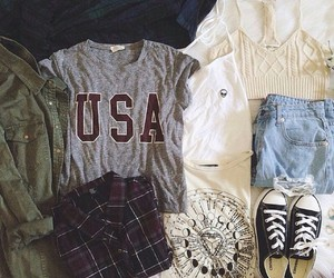 converse, outfit, and usa image