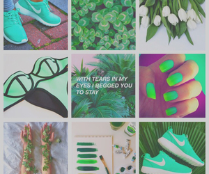 Collage, green, and nature image