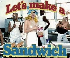 Lady gaga, telephone, and sandwich image