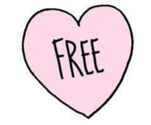 free, overlay, and heart image