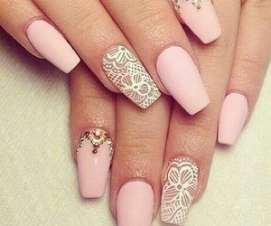 beaty, cute nail design, and tip image