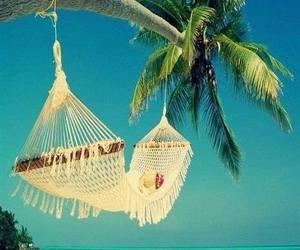 summer, beach, and hammock image