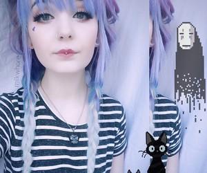 dyed hair and kawaii image
