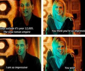 doctor who, rose tyler, and nine image