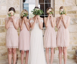 bridesmaid, dress, and wedding image