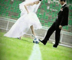football, love, and wedding image