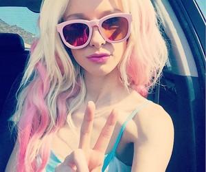 pink hair image